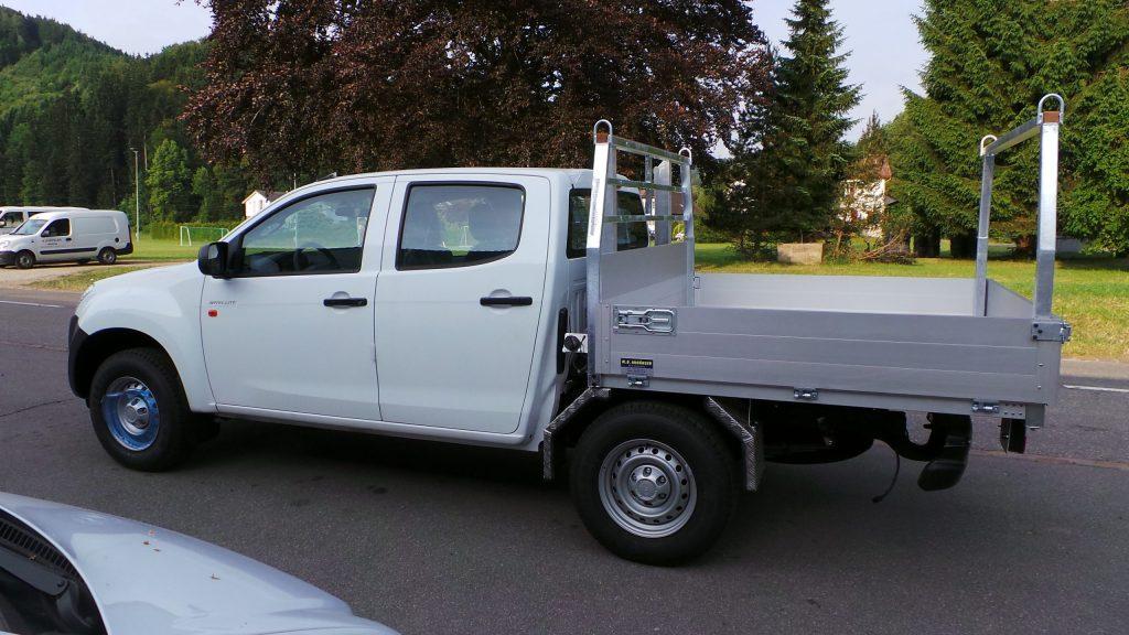Lieferwagen-Aufbau: Pick-Up Aufbau